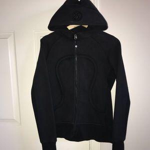 Women's black Lululemon Scuba hoodie